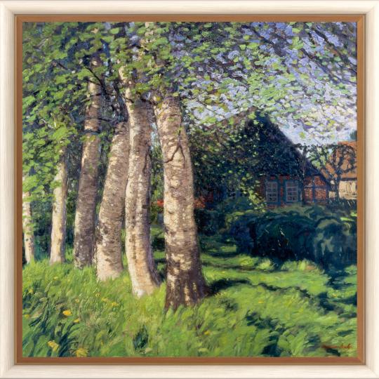 Frühling in Worpswede. Hans am Ende (1864-1918).
