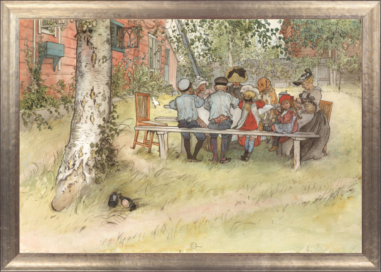 Frühstück unter der großen Birke. Carl Larsson (1853-1919).