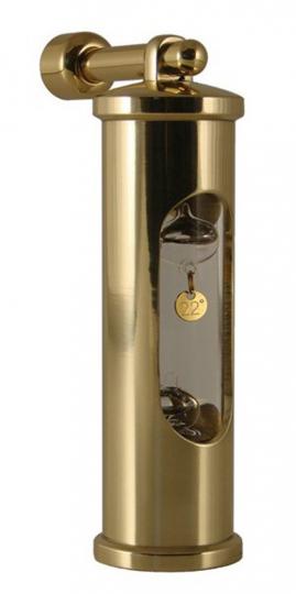 Thermometer »Galileiglas« mit Wandhalterung.