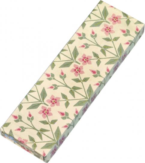 Gefährlich schön Bleistifte in Geschenkschachtel. Motiv Rosa Blume. 6 Bleistifte mit Radiergummi, 3 Motive.