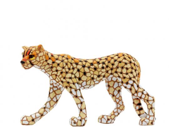 Gepard aus Mosaik.