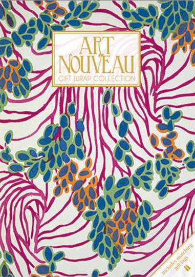Geschenkpapier-Buch »Art Nouveau«.