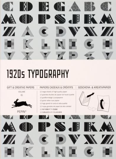 Geschenkpapier »Typographien der 1920er«.