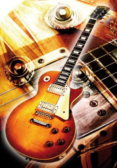 Gibson Les Paul Standard 1959. Kunstdruck.