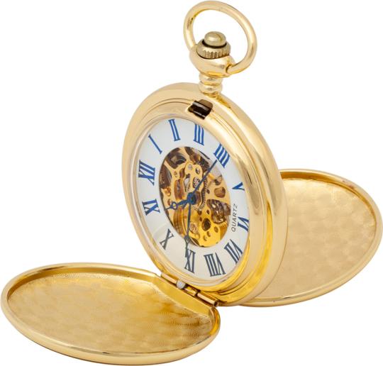 Goldene Taschenuhr Doppel-Savonette.