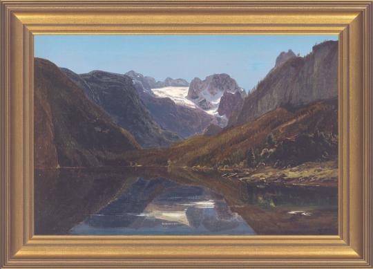Gosausee mit Dachstein. Eduard Schleich d.Ä. (1812-1874).