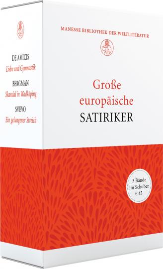 Große europäische Satiriker. Limitierte Geschenkausgabe im Schuber. 3 Bände.