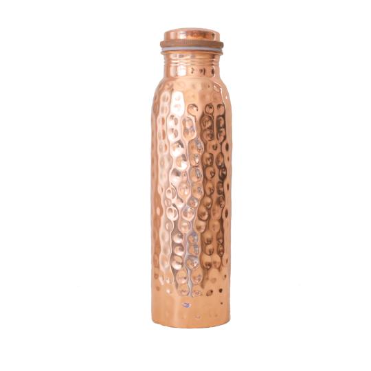 Große Wasserflasche aus Kupfer »gehämmert«.