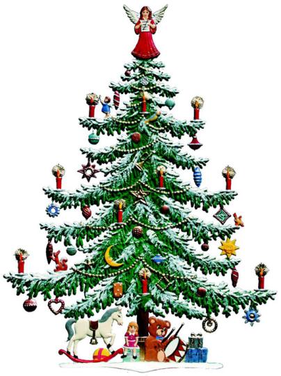 Großer Weihnachtsbaum.
