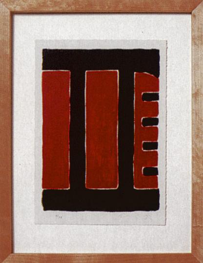 Günther Förg: Original-Lithographie in drei Farben (Künstleredition manesse)