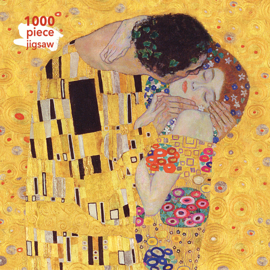 Kunstpuzzle mit 1000 Teilen. Gustav Klimts »The Kiss«.