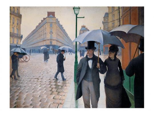 Gustave Caillebotte. »Straße in Paris an einem regnerischen Tag«, 1877.