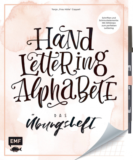 Handlettering Alphabete - Das Übungsheft mit original Tombow ABT Dual Brush Pen