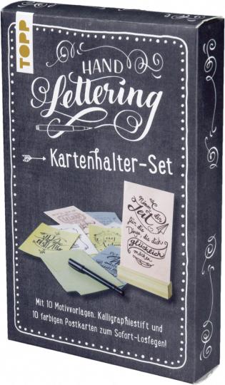 Handlettering Kartenhalter-Set - 10 Postkarten zum Handlettern