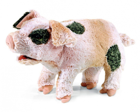 Grunzendes Schweinchen Handpuppe.