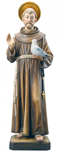 Heiliger Franziskus - Franz von Assisi - Miniatur im Etui