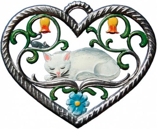 Herz mit Katze.