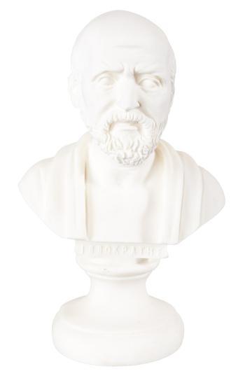 Hippokrates-Büste.