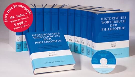 Historisches Wörterbuch der Philosophie. 13 Bände.