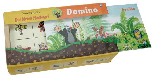 Holz-Domino »Der kleine Maulwurf«.