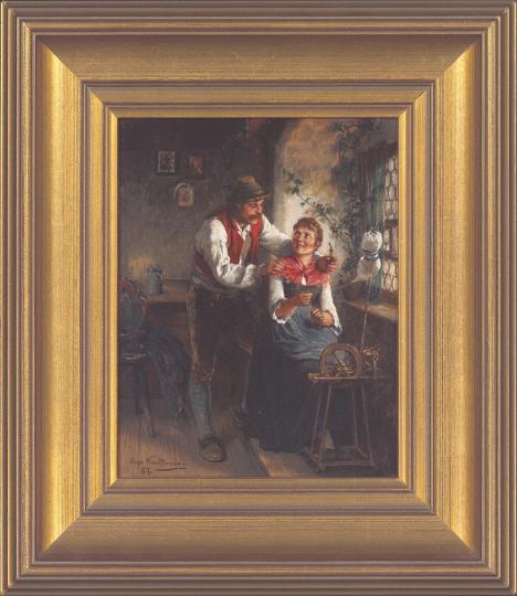 Hugo Kauffmann (1844 - 1915), Junges Paar.