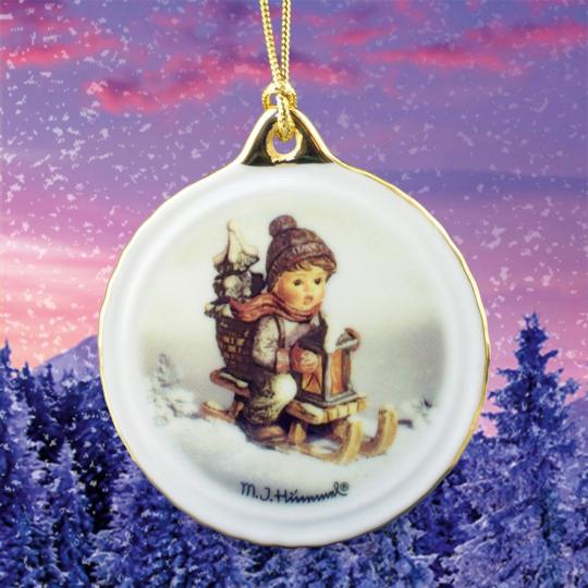 Hummel-Weihnachtsornament »Fahrt in die Weihnacht«.
