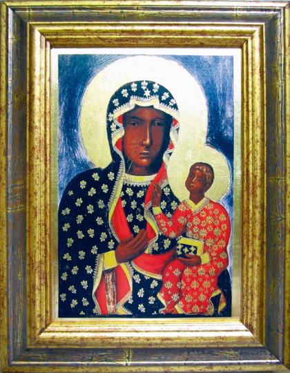 Ikone »Schwarze Madonna von Tschenstochau«.