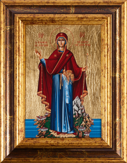 Ikone »Maria Beschützerin des Berg Athos«.