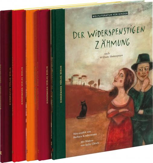 Illustrierte Weltliteratur für Kinder. 5 Bände im Paket.