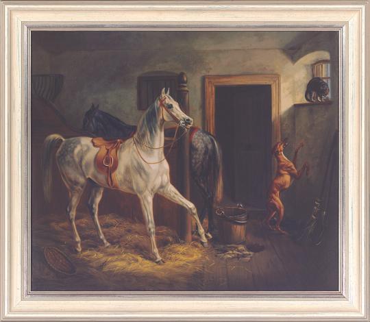 Im Pferdestall. Albrecht Adam (1786-1862).