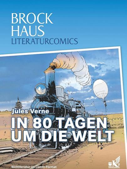 In 80 Tagen um die Welt. Weltliteratur im Comic-Format.