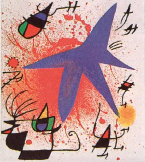 Joan Miró. Der blaue Stern.