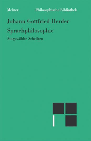 Johann Gottfried Herder. Sprachphilosophie.