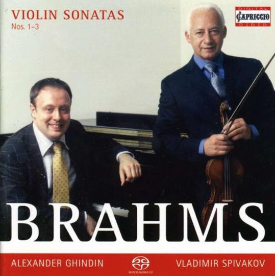 Johannes Brahms. Sonaten für Violine & Klavier Nr.1-3. SACD.