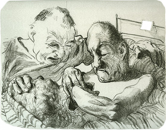 Johannes Grützke. Aus dem Leben Arthur Rimbauds. Grafikedition.