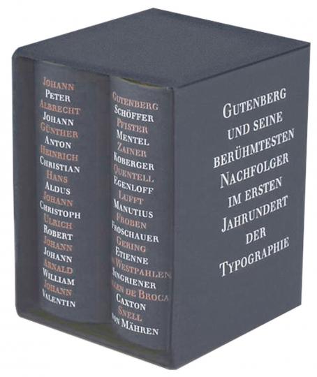 Johannes Gutenberg 2 Bände in Kassette