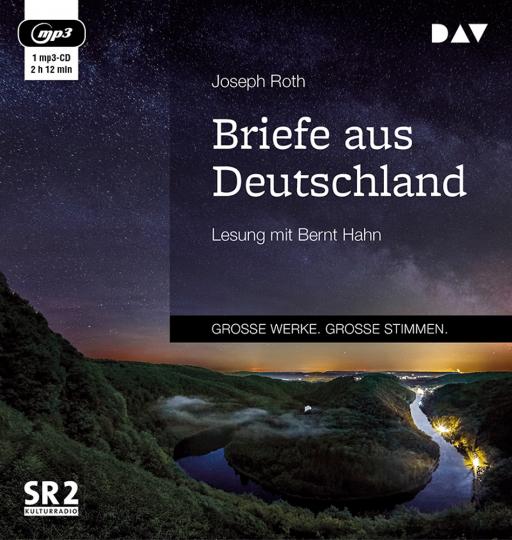 Joseph Roth. Briefe aus Deutschland. Lesung mit Bernt Hahn. 1 mp3-CD.