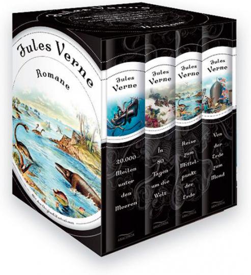 Jules Verne. Romane. Vier Bände in Kassette.