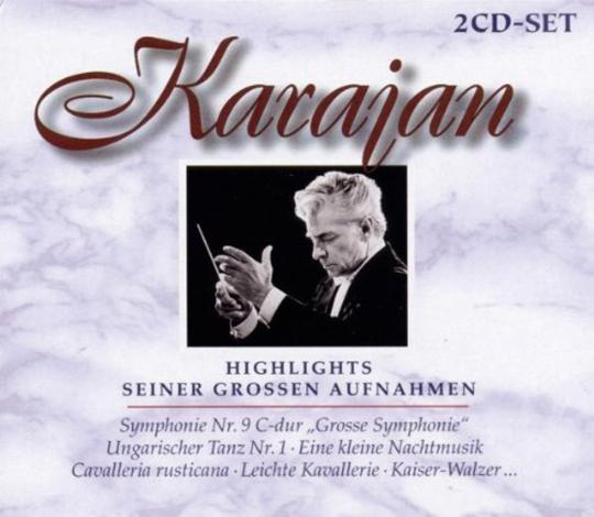 Karajan. Highlights seiner großen Aufnahmen. 2 CDs.
