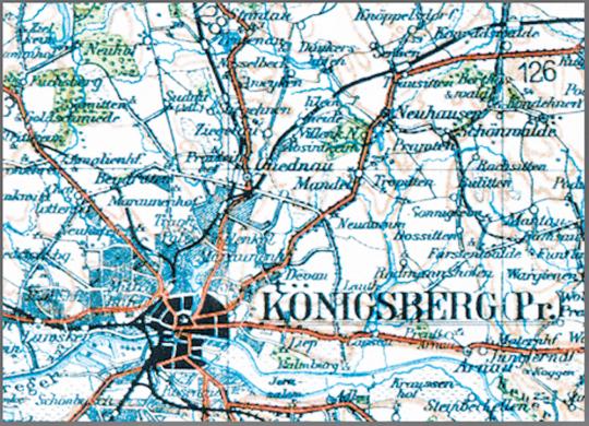 Karte von Ostpreußen