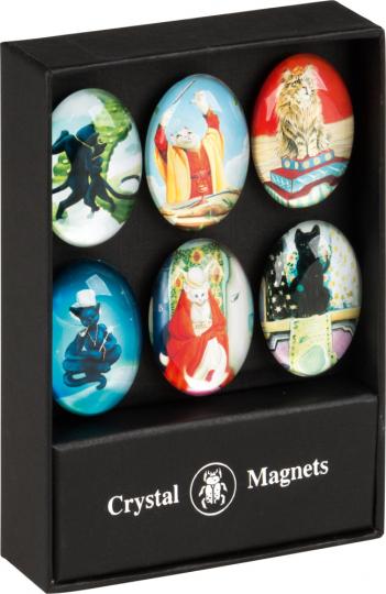 Katzen Magnetset. 6 Magnete.