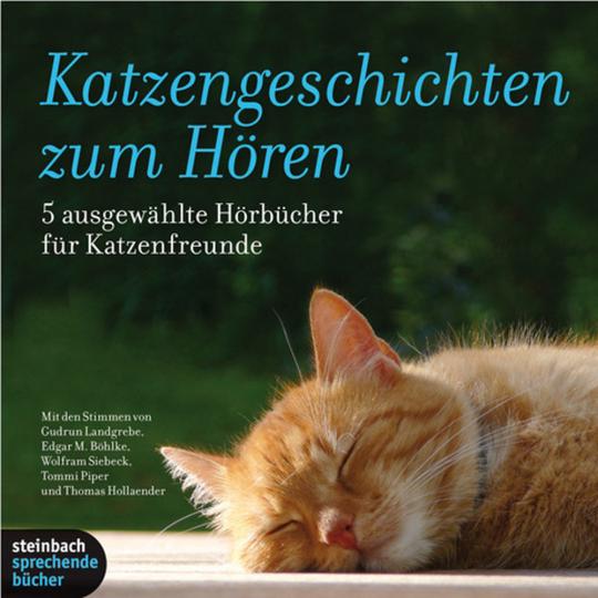 Katzengeschichten zum Hören. 5 ausgewählte Hörbücher für Katzenfreunde. 2 mp3-CDs.