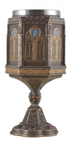 Kelch 'Kathedrale' mit Edelstahl-Einsatz