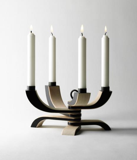 Kerzenleuchter »Nordic Light« schwarz, vierarmig.
