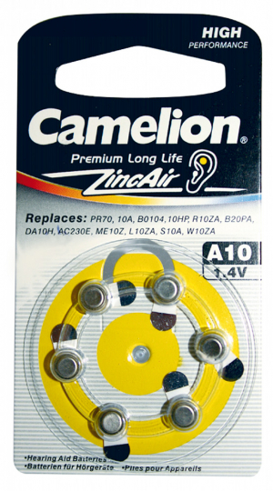 Knopfzellen Premium Long Life A10.