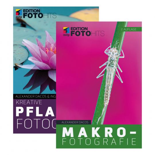 Kreative Pflanzenfotografie. Makrofotografie. Set.