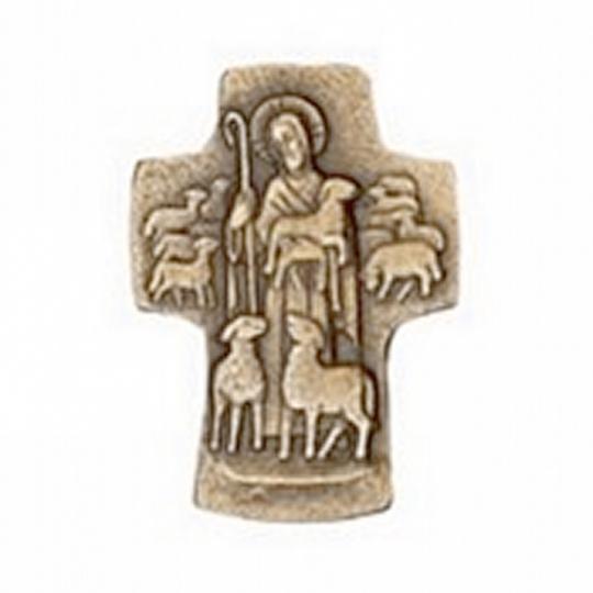 Kreuz Guter Hirte - Bronze