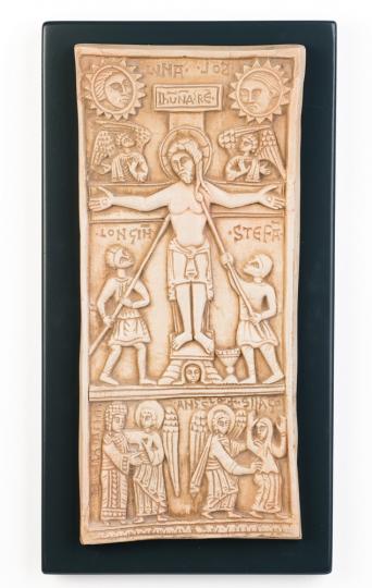 Kreuzigung Relief. Italien, um 1100 n.Chr.