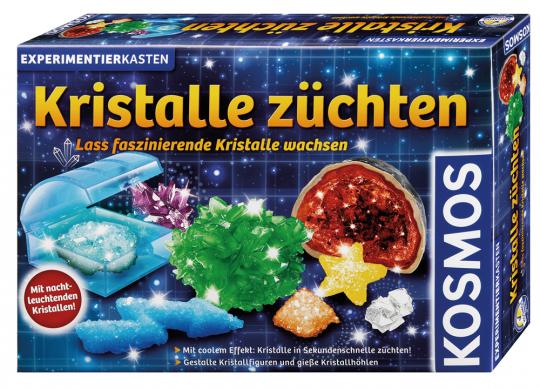 Kristalle züchten. Lass faszinierende Kristalle wachsen. Experimentierkasten.