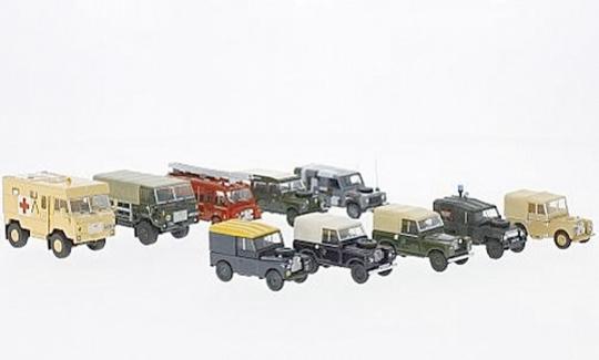 Land Rover - 10er-Set Military - Maßstab 1:76